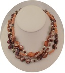 Sample of fall pearl collection in oranges and pink coral